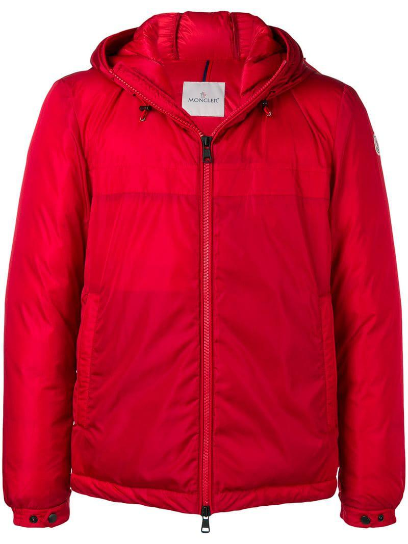 402f48f7cecd Moncler - Red Classic Padded Jacket for Men - Lyst. View fullscreen