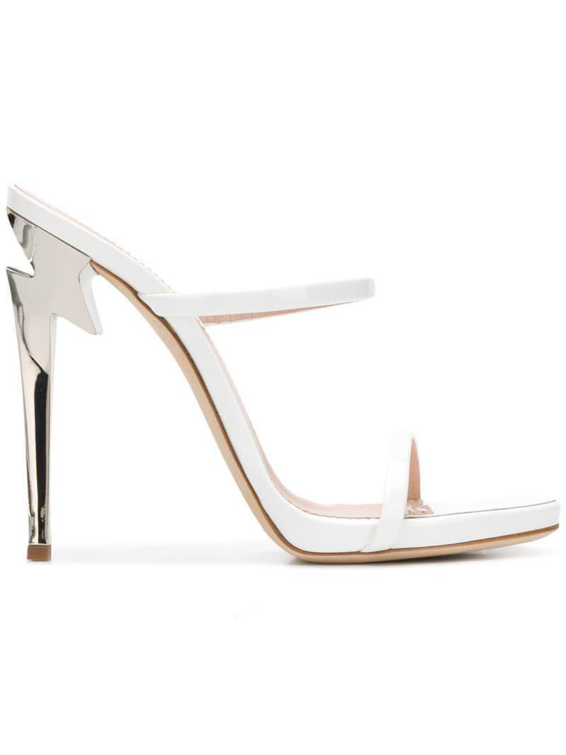 0aa3ea8ebcd6 Giuseppe Zanotti G-heeled 120 Sandals in White - Lyst