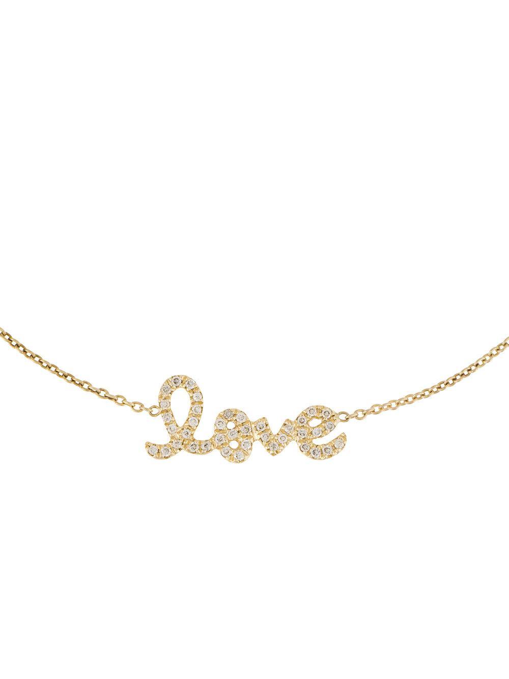 Sydney Evan 14kt yellow gold diamond love bracelet - Metallic oqKpDG