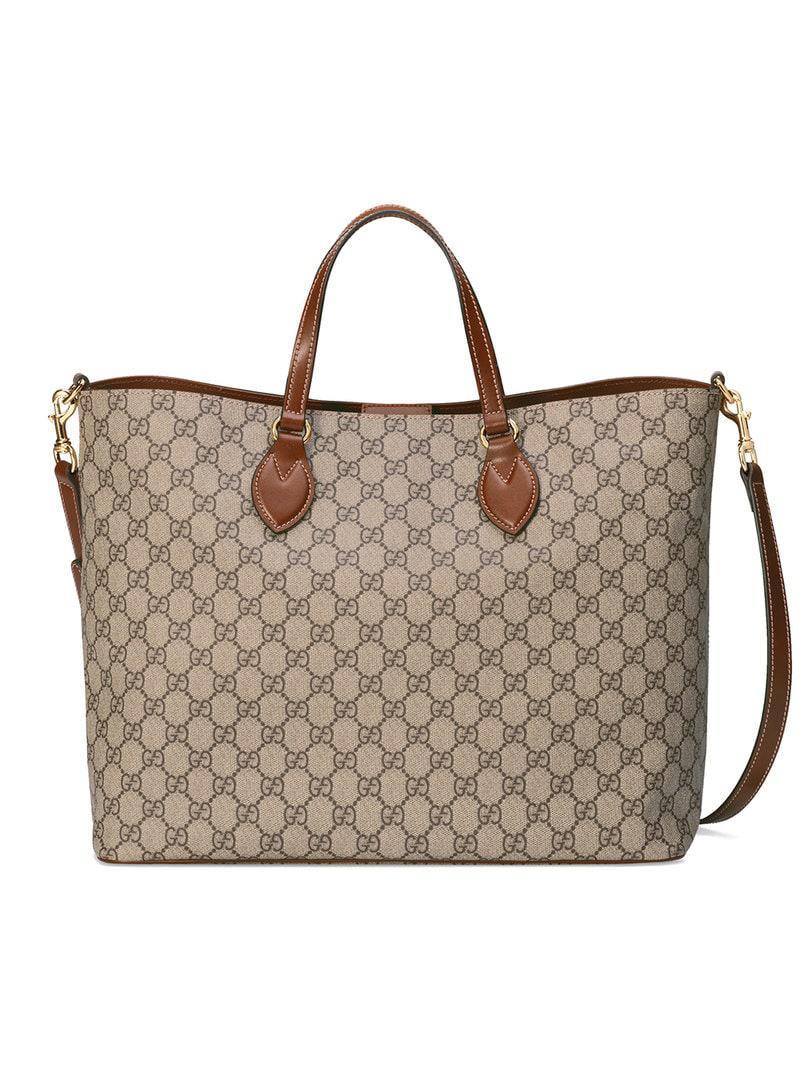42cd38588c1 Gucci Gg Supreme Soft Canvas Tote - in Brown - Save ...