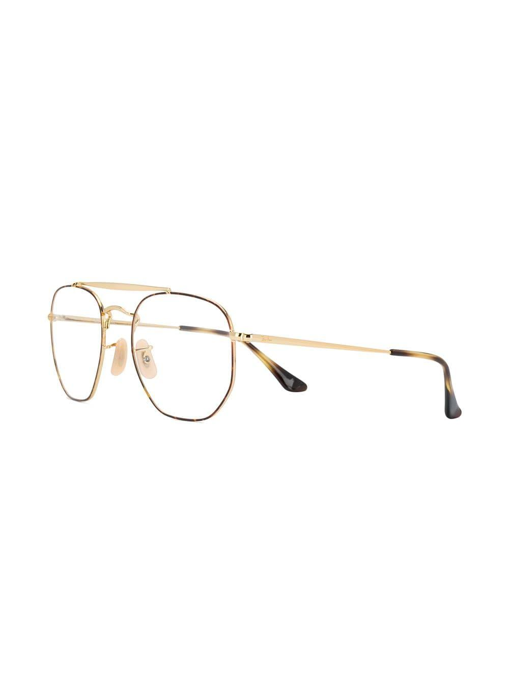 3d19eaa4f823 Ray-Ban Tortoiseshell Glasses in Metallic - Lyst