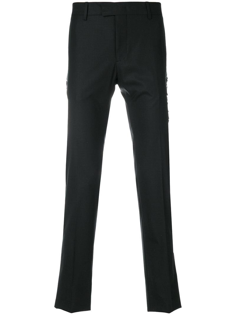 lace-up detail trousers - Black Les Hommes fITBvGTw