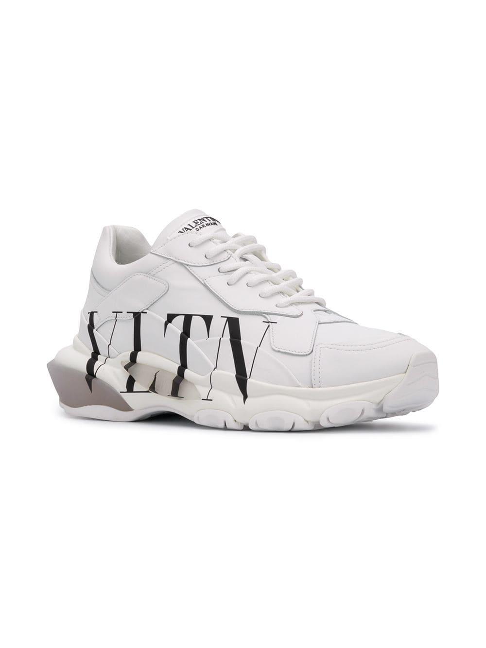 609805486c2d Lyst - Valentino Garavani Rockstud Vltn Sneakers in White for Men