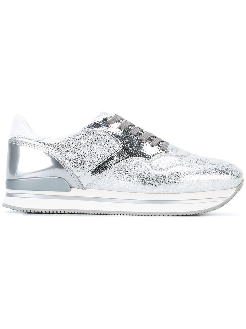 Get To Buy For Sale Shop For Hogan Metallic sneakers AvQv9nmt1g