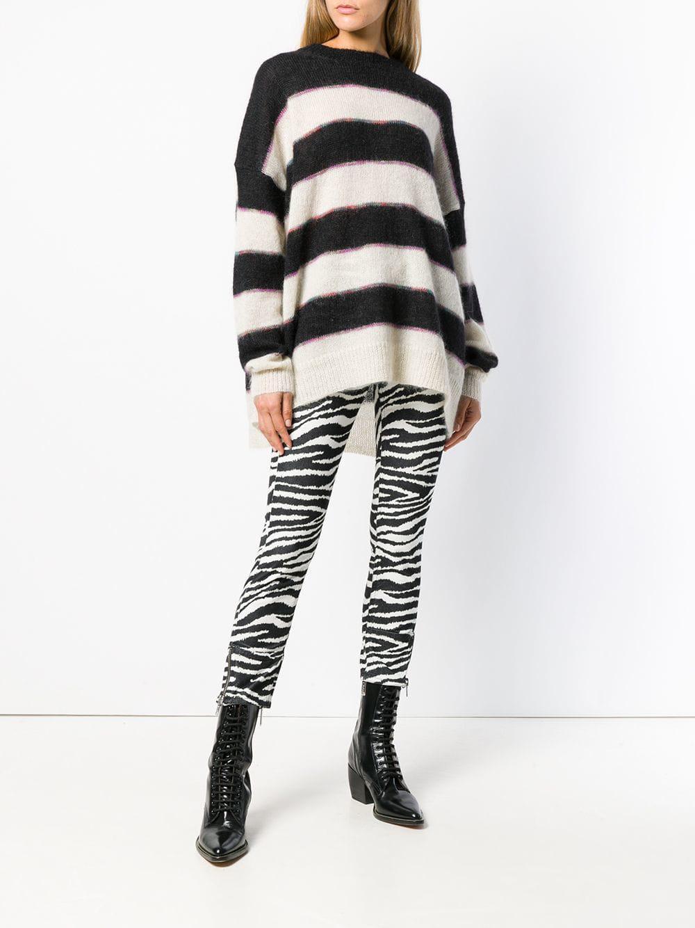8a951b520c Étoile Isabel Marant - Black Reece Striped Sweater - Lyst. View fullscreen