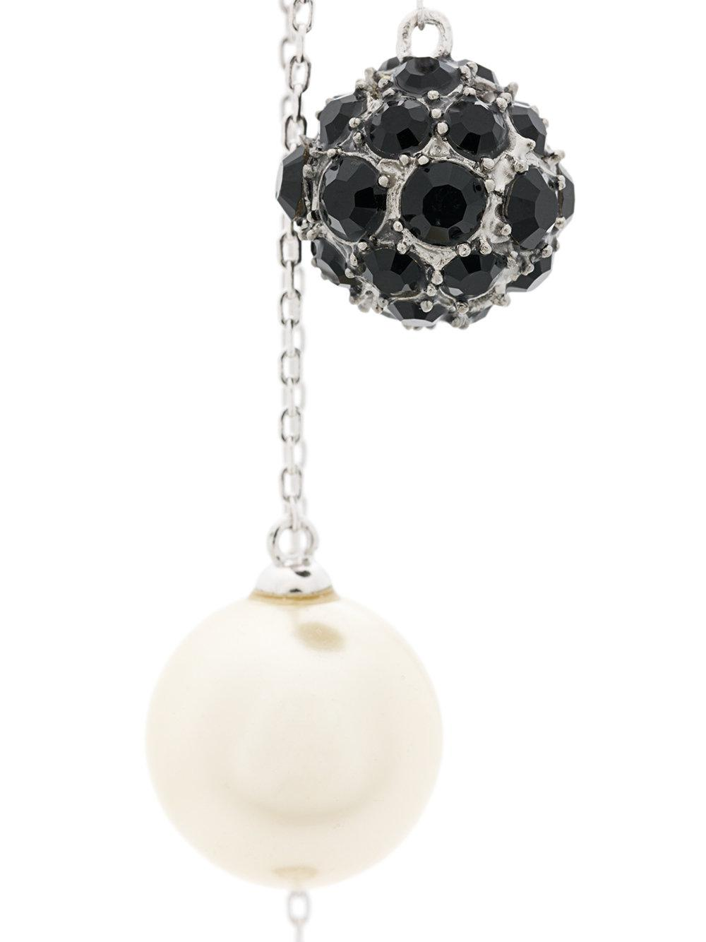 Marc Jacobs crystal pearl delicate earring - Metallic 7dZbpCJee