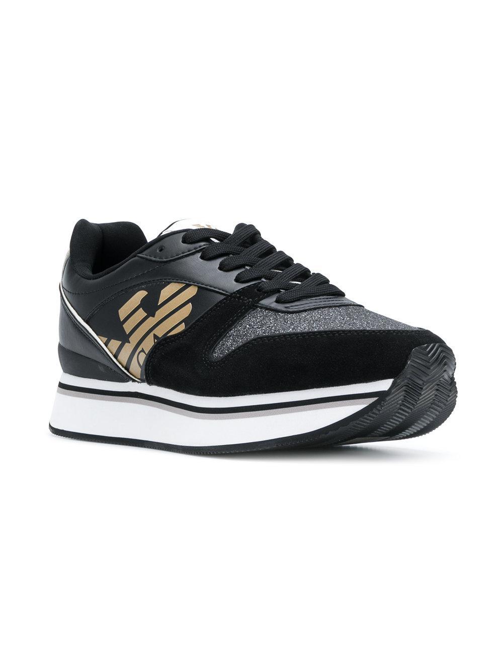 flatform logo sneakers - Black Emporio Armani XfNlGrC