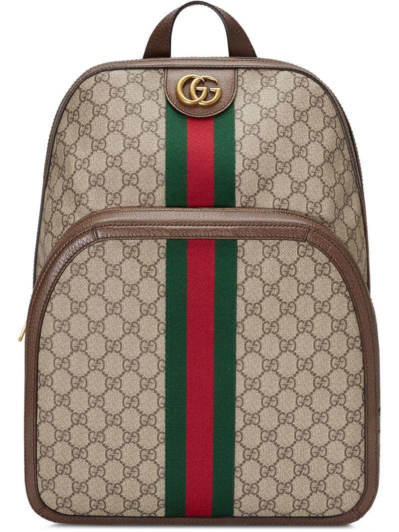 a9303a89ab Sac à dos Ophidia GG medium Gucci pour homme en coloris Marron - Lyst