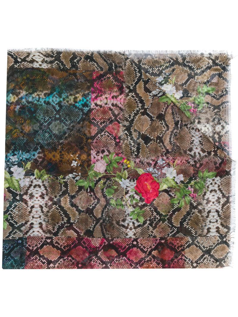 Discount Cheap Sale Latest Preen By Thornton Bregazzi Monica snakeskin print scarf C7yr2Gj