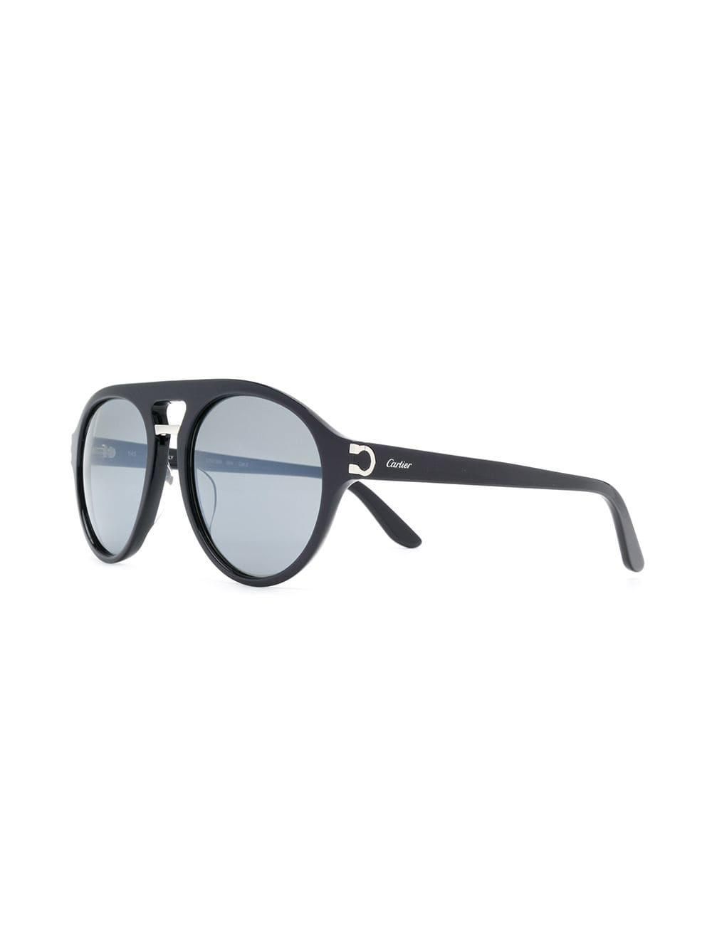 Cartier C Decor Sunglasses In Blue Lyst