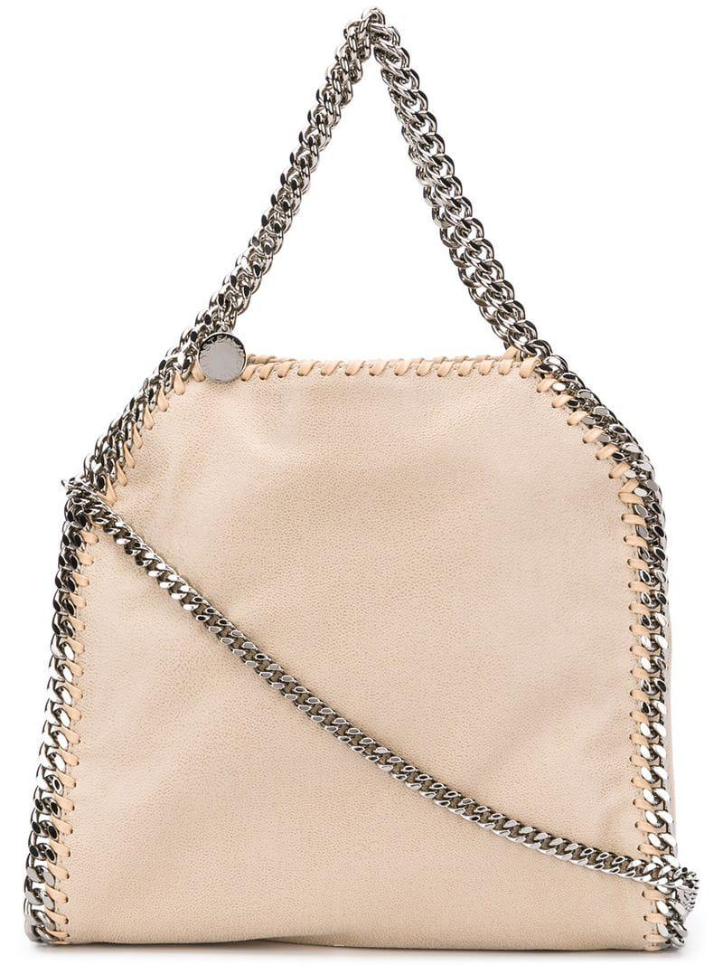 Lyst - Stella Mccartney Mini Falabella Bag in Natural 013500419df17