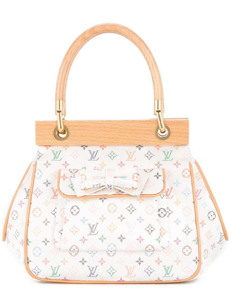 a7240456a578 Lyst - Louis Vuitton Abelia Hand Bag in White