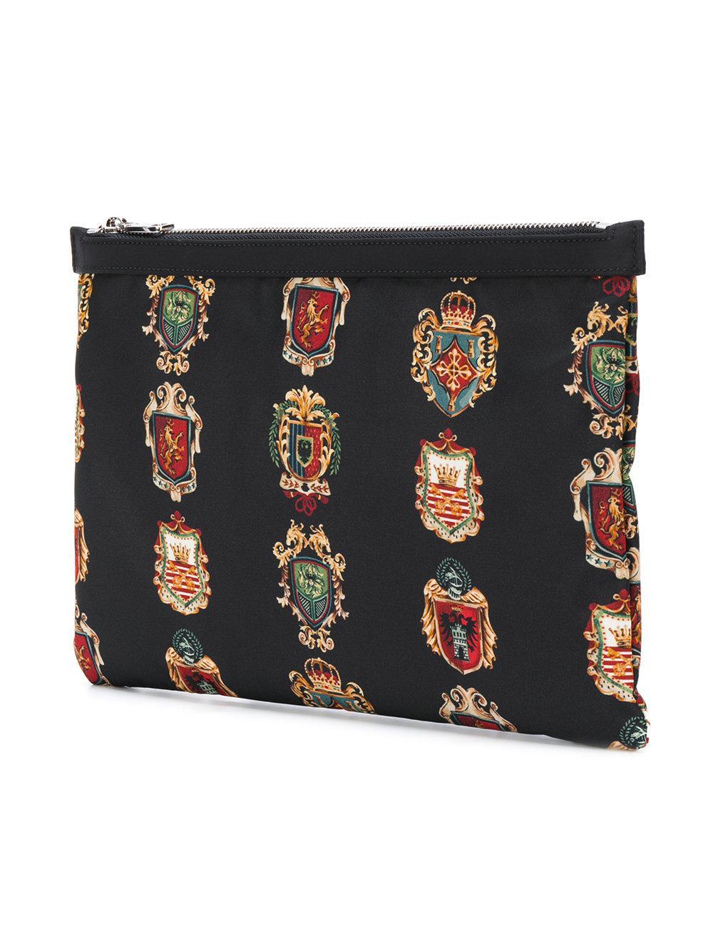 Crest print document holder Dolce & Gabbana nzTSbBJ
