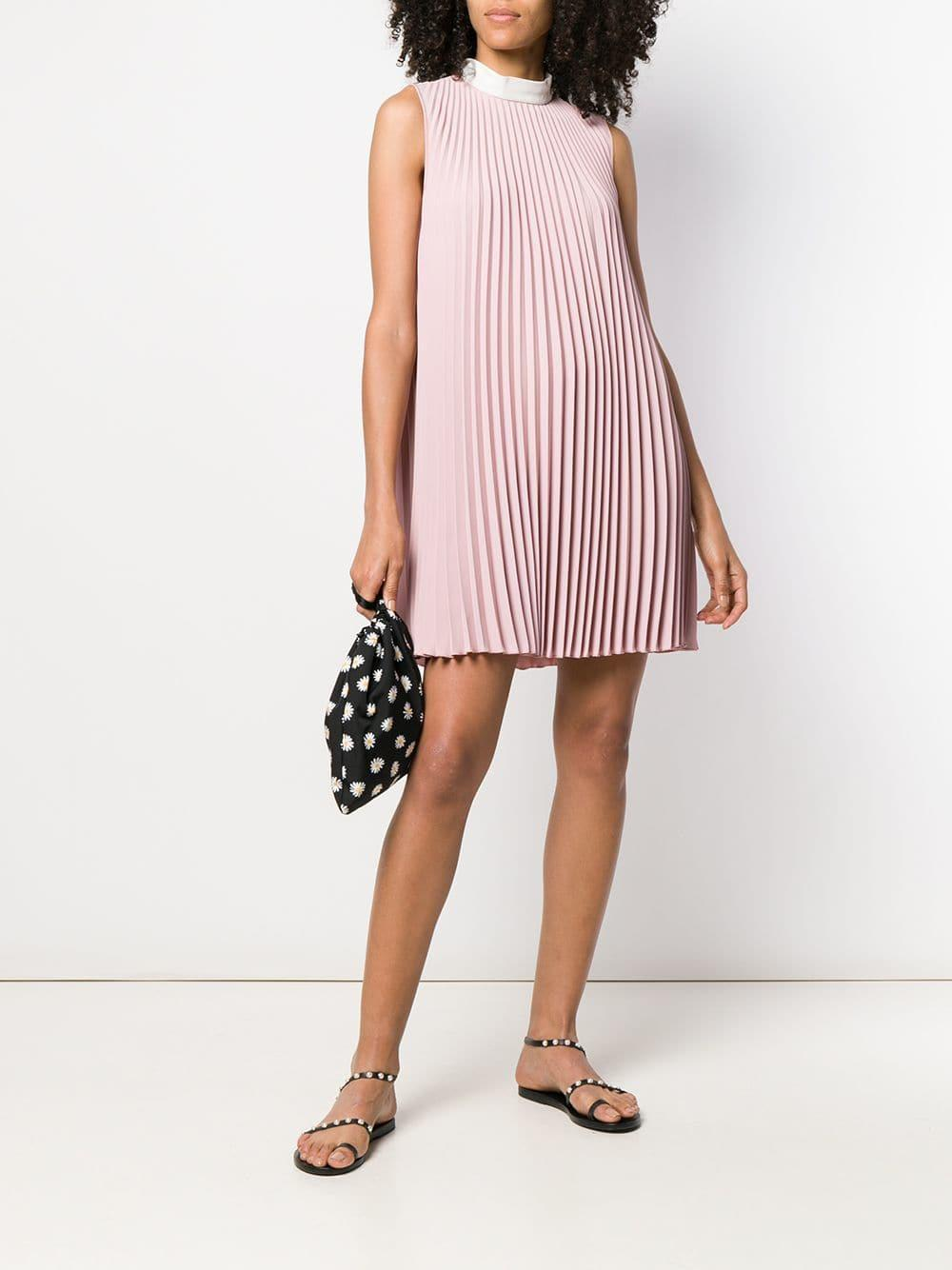 082f7ff4d44 RED Valentino Pleated Short Dress in Pink - Lyst