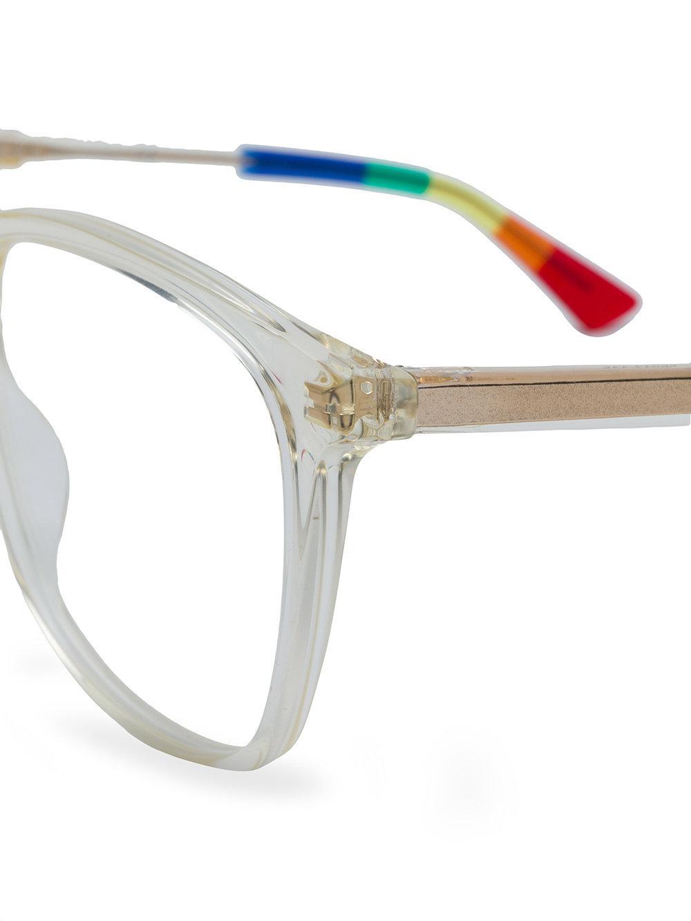 fce2e6a93c Gucci Clear-frame Square Glasses - Lyst