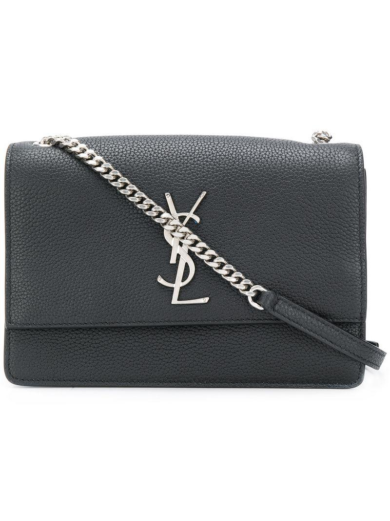 1d5f456f2e Lyst - Saint Laurent Monogram Kate Shoulder Bag in Black
