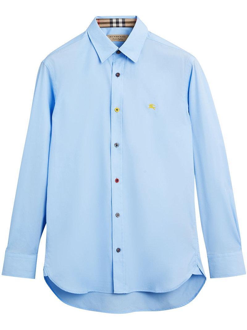 Lyst - Chemise à ourlet incurvé Burberry pour homme en coloris Bleu 218c0e55a9d