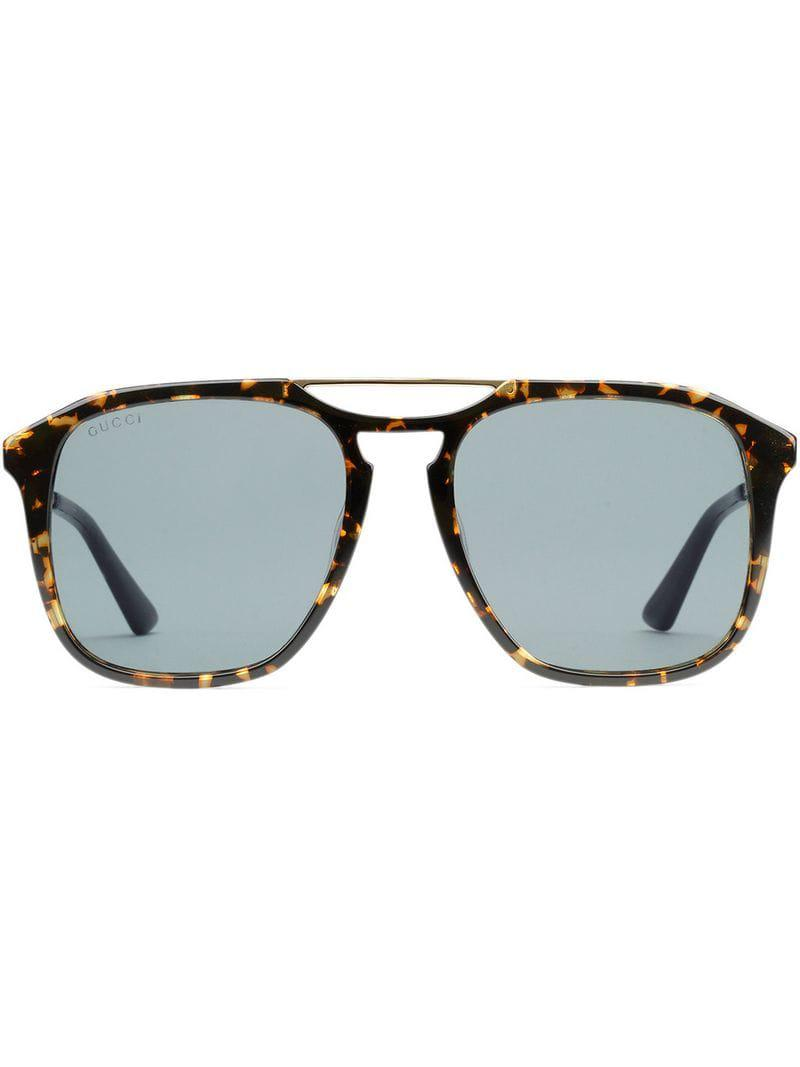 c022c524f0e Lyst - Gucci Square-frame Acetate Sunglasses in Brown for Men
