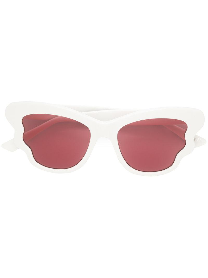 check detail sunglasses - White Alexander McQueen Eyewear