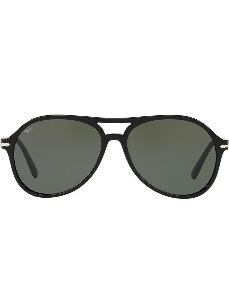 3cf90f0e5aff8 Persol Aviator Sunglasses in Black for Men - Save 18.631178707224336 ...