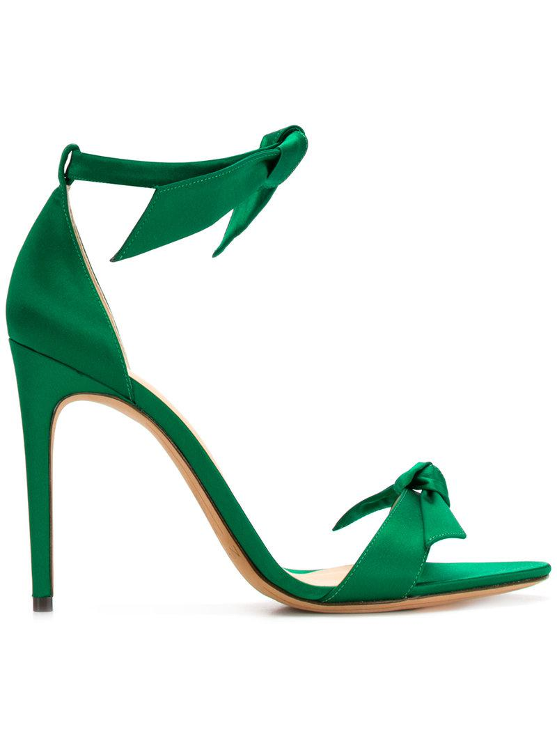 Release Dates For Sale Lovely Clarita Bow-embellished Satin Sandals - Green Alexandre Birman Original Low Cost TFHCUBt