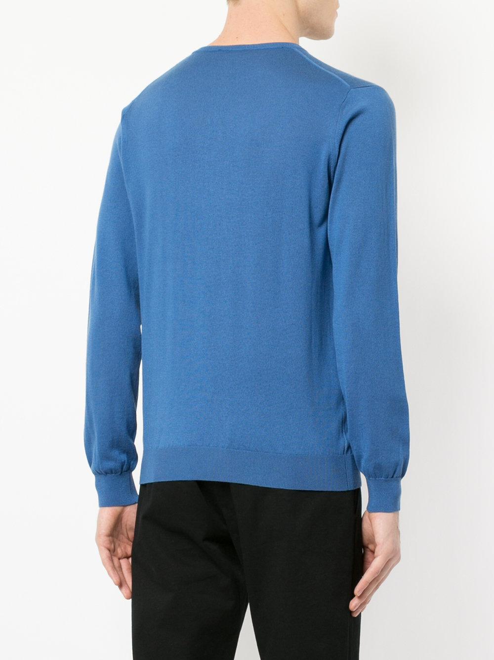 Laneus crew neck sweater - Blue
