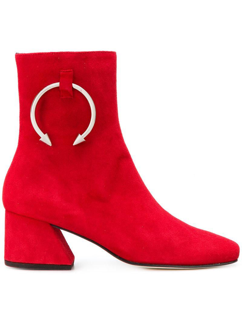 pierced boots - Red DORATEYMUR Free Shipping Cheap Ye44aqe3X