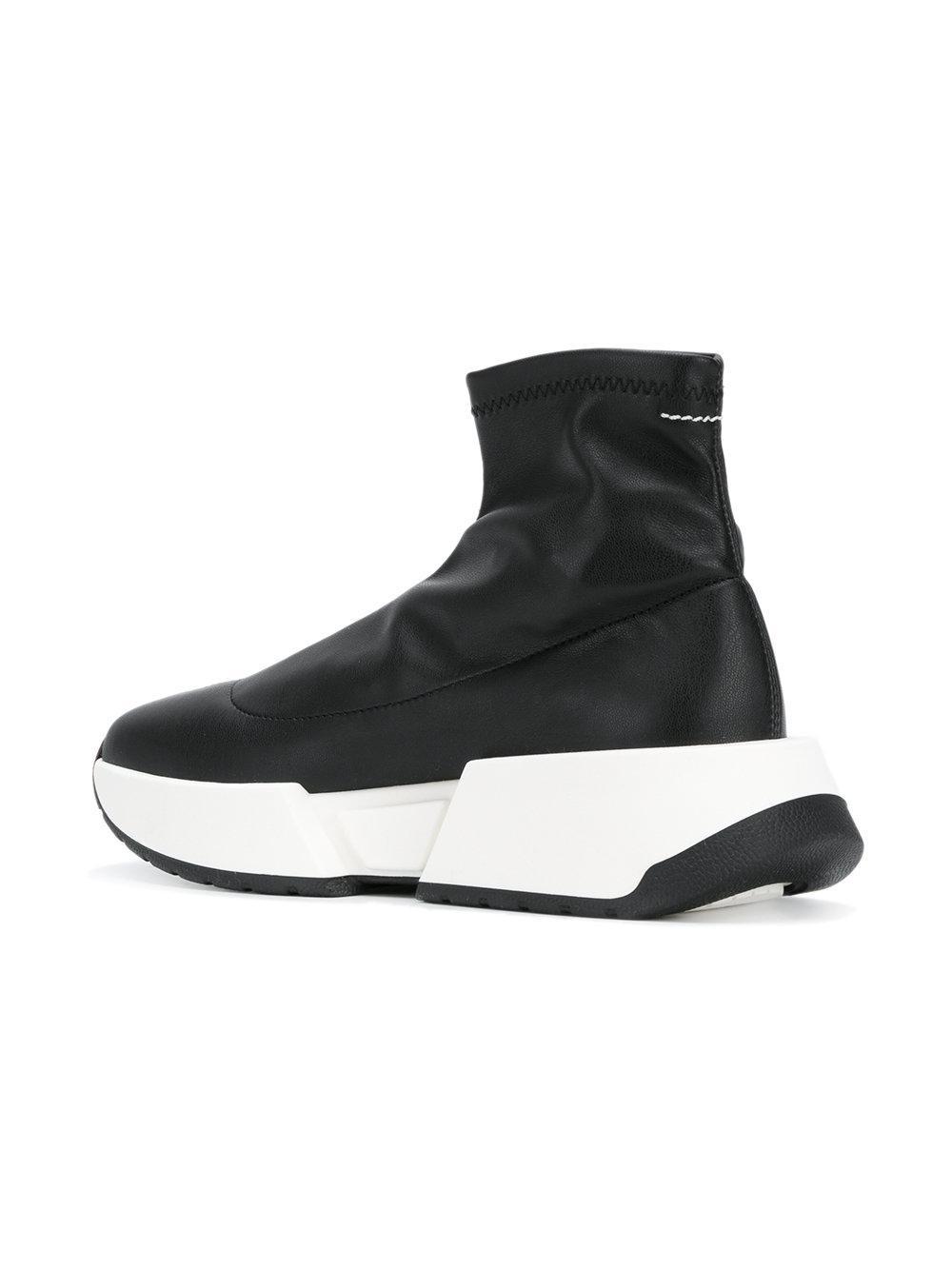 MM6 Maison Martin Margiela Black Pearl Sock High-Top Sneakers