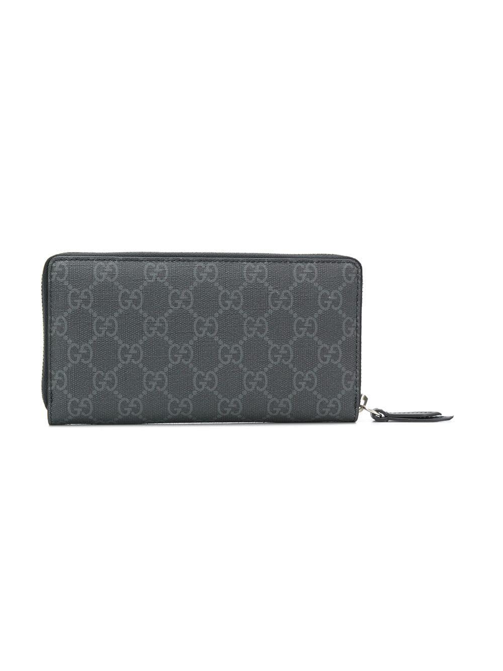03cf8811d82 Gucci GG Supreme Owl Wallet in Black for Men - Lyst