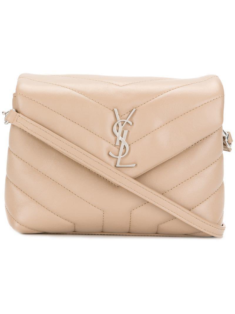 Lyst - Saint Laurent Toy Loulou Leather Shoulder Bag in Natural ... 67d2a0bd3fa0f
