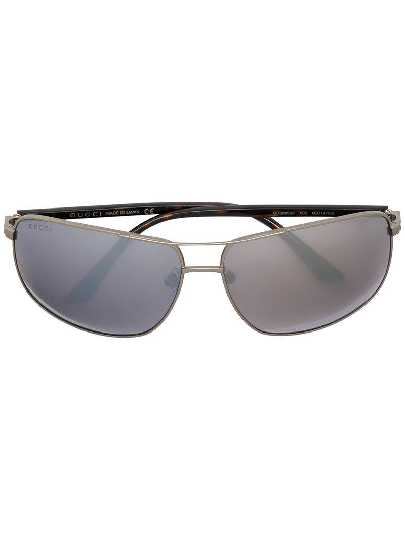 square frame sunglasses - Metallic Gucci Vd9L3A1sk