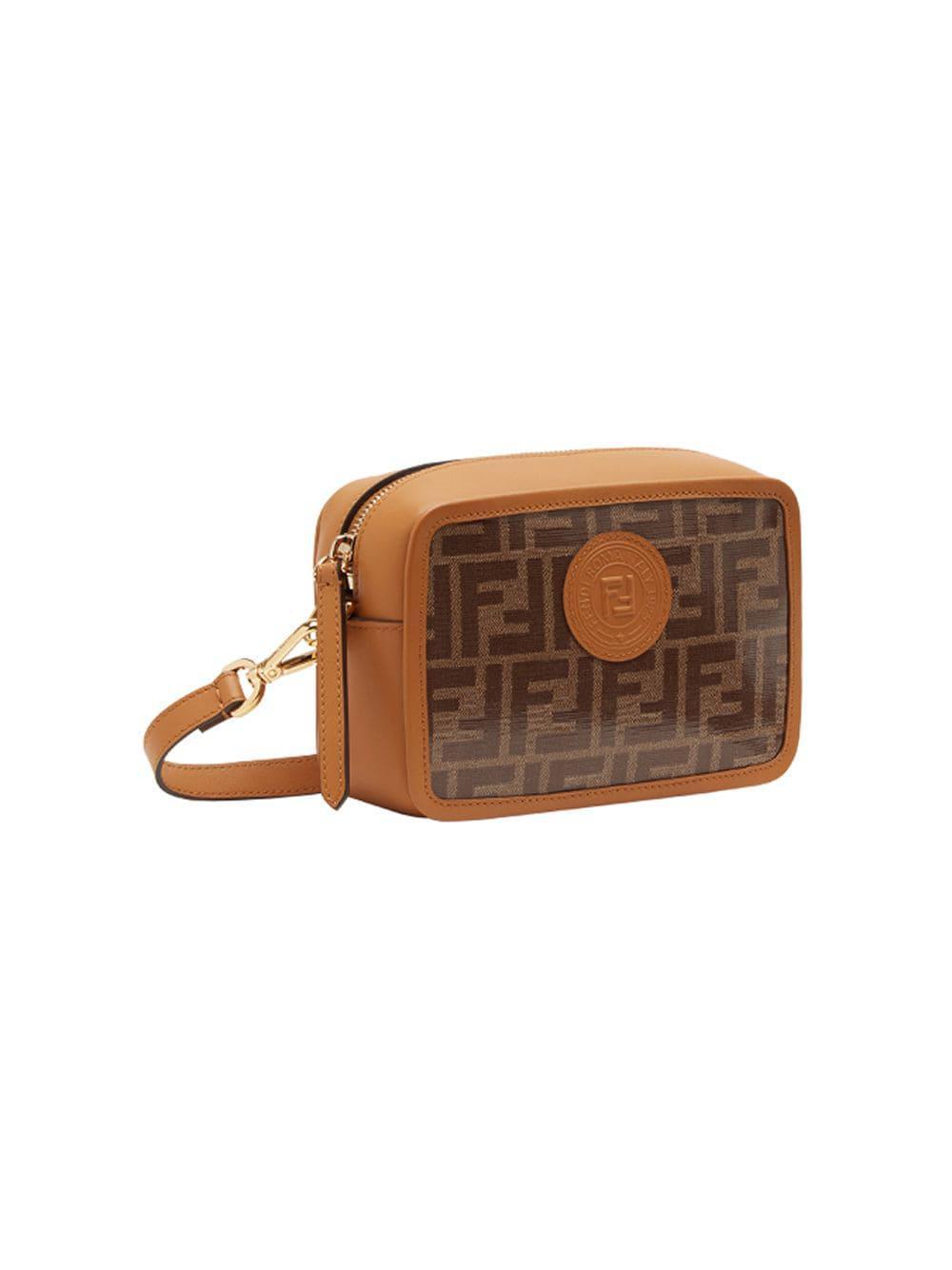 76f231cb94de Lyst - Fendi Mini Camera Case Crossbody Bag in Brown