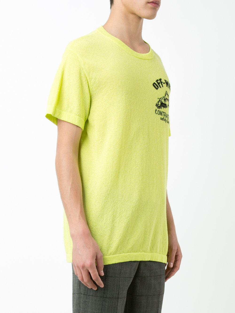 f738549cac78 Lyst - Off-White c o Virgil Abloh Construction T-shirt in Green for Men