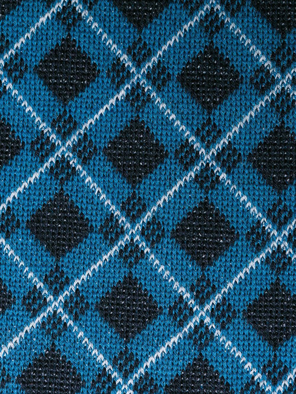37d31c715d38 Prada - Blue Pull à motif géométrique for Men - Lyst. Afficher en plein  écran