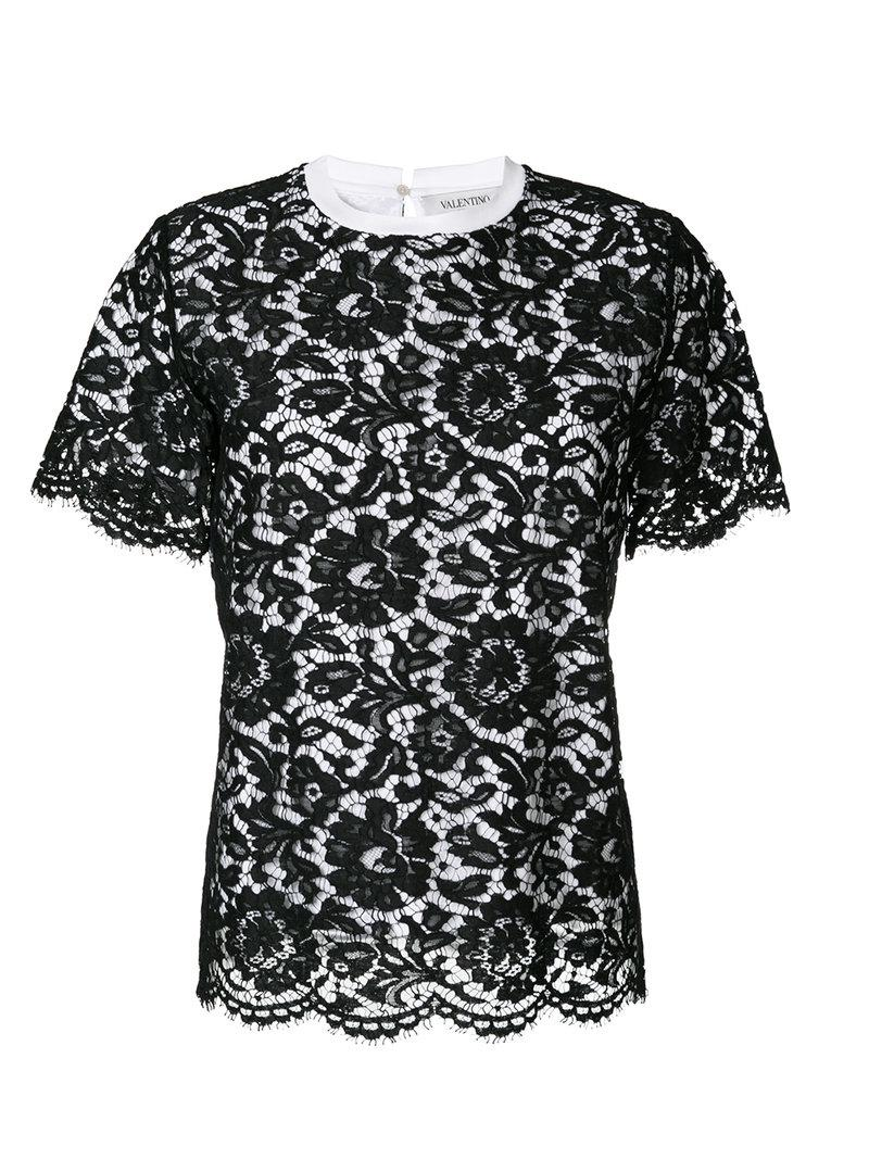 Sale Footlocker Pictures Valentino lace detail T-shirt For Sale The Cheapest Free Shipping With Mastercard Collections lCUvAzDGTa