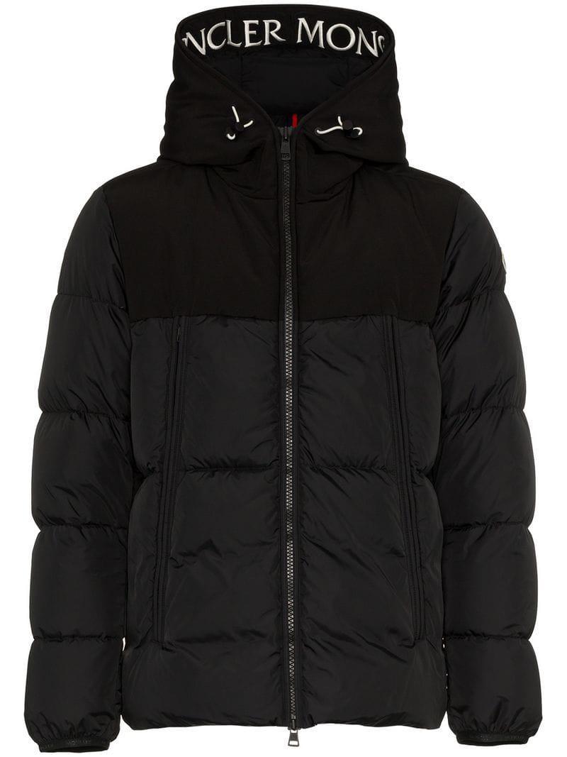 345b9f5f3 Moncler Montclar Hooded Padded Jacket in Black for Men - Lyst