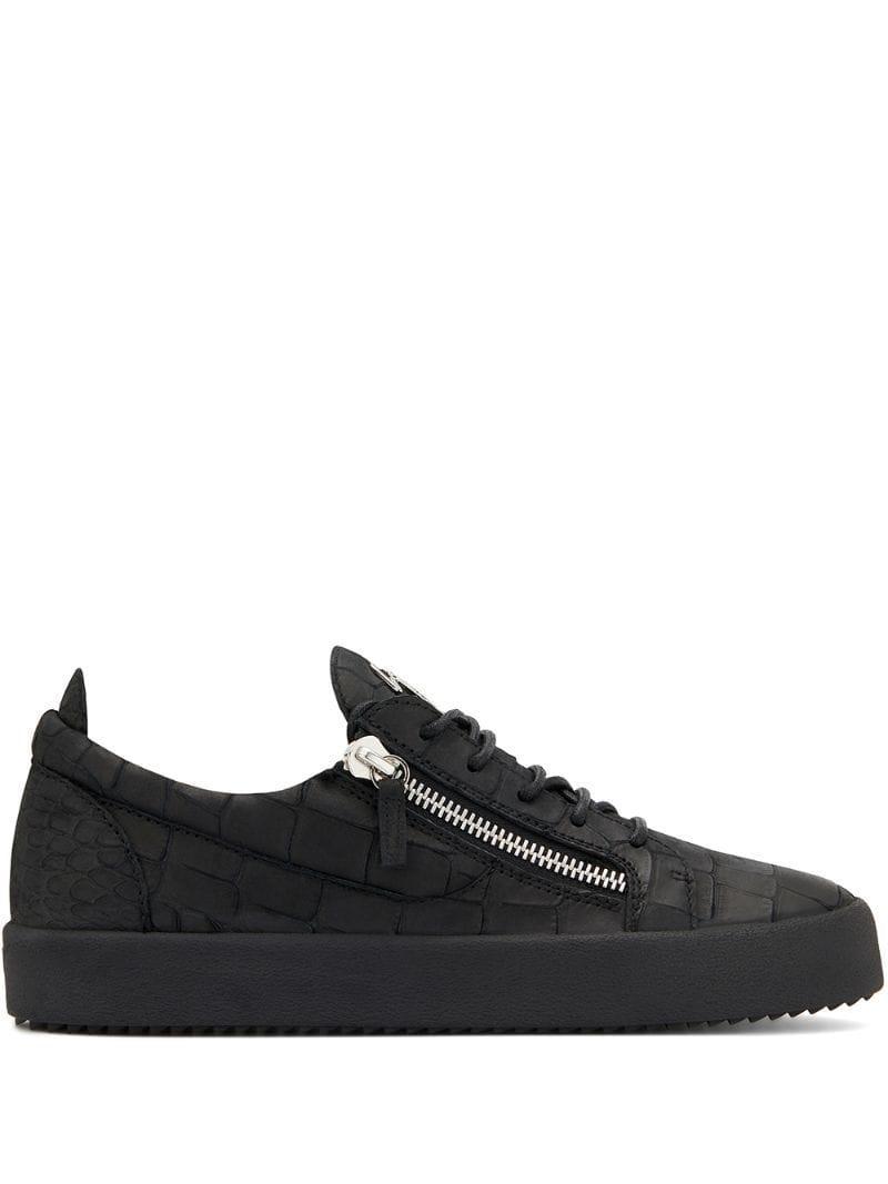 e7006bbaa6052 Giuseppe Zanotti Frankie Low-top Sneakers in Black for Men - Lyst