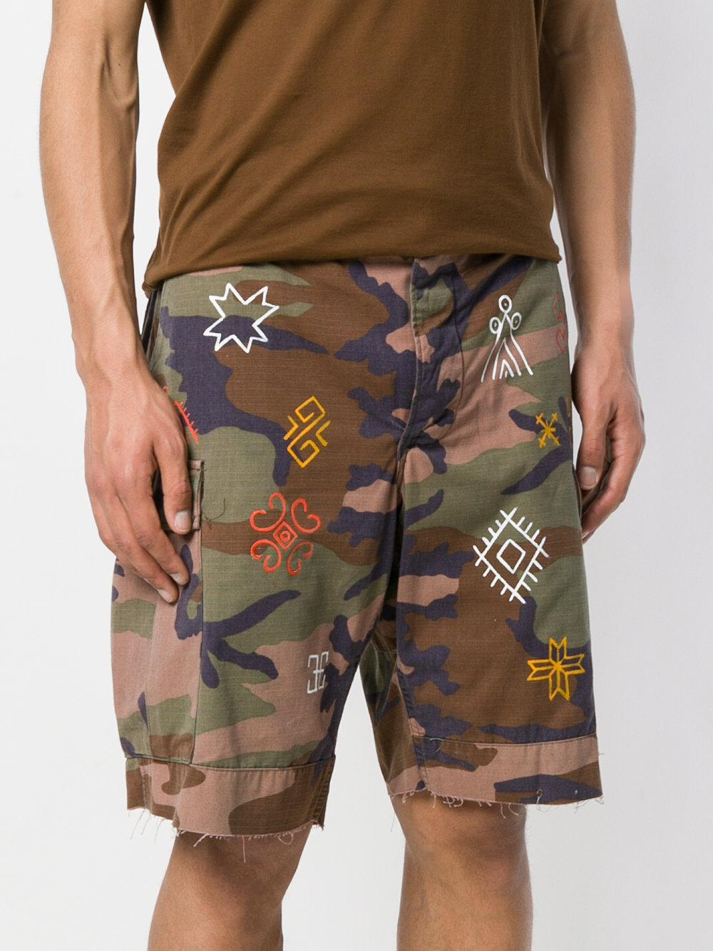 840faa42c7 Htc Los Angeles Camouflage Fitted Shorts in Green for Men - Lyst