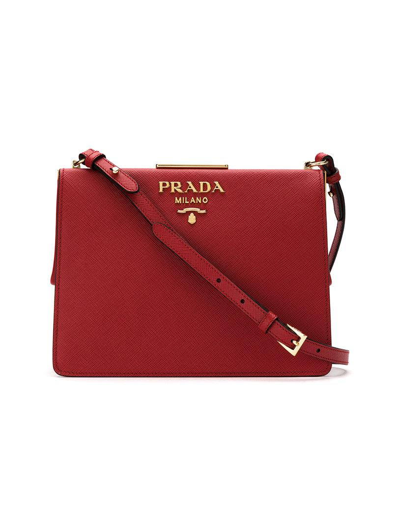 Light frame crossbody bag - Red Prada VfVe4N