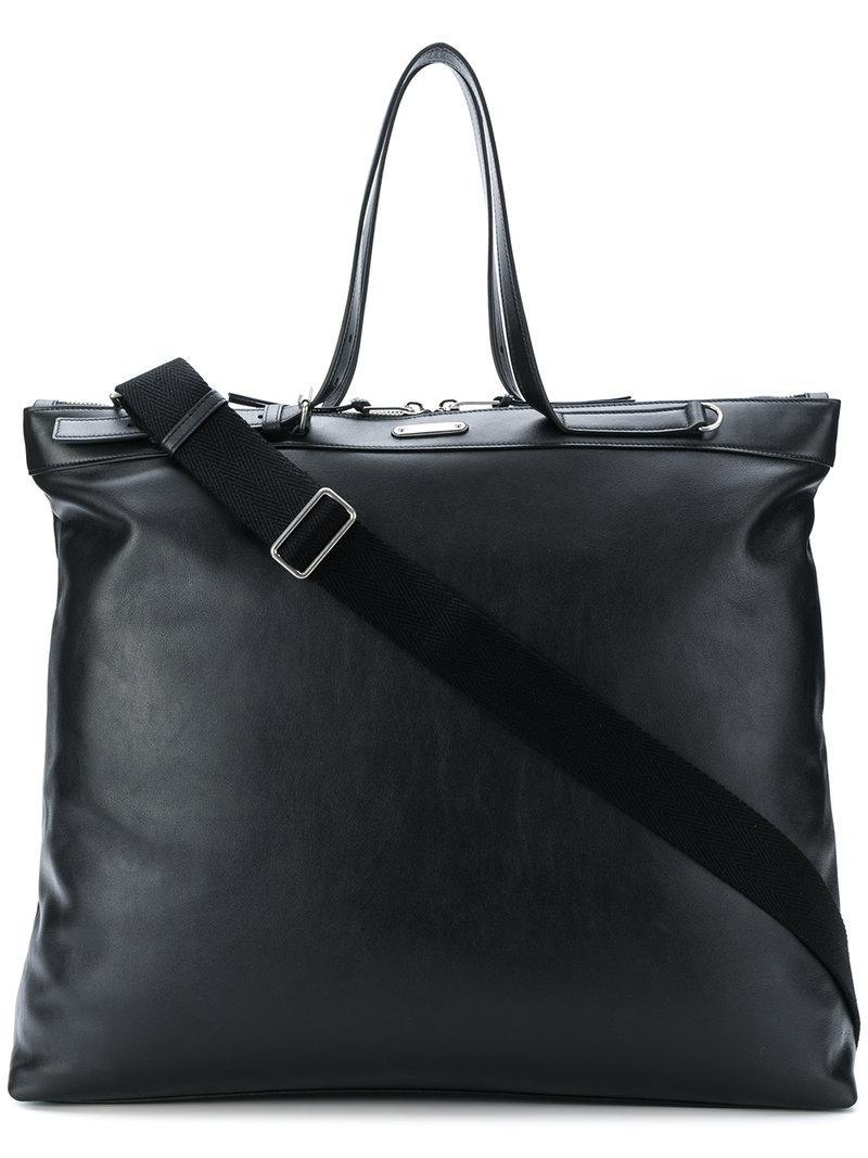 e9a63d97b1b9 Lyst - Saint Laurent Id Shopping Bag in Black for Men