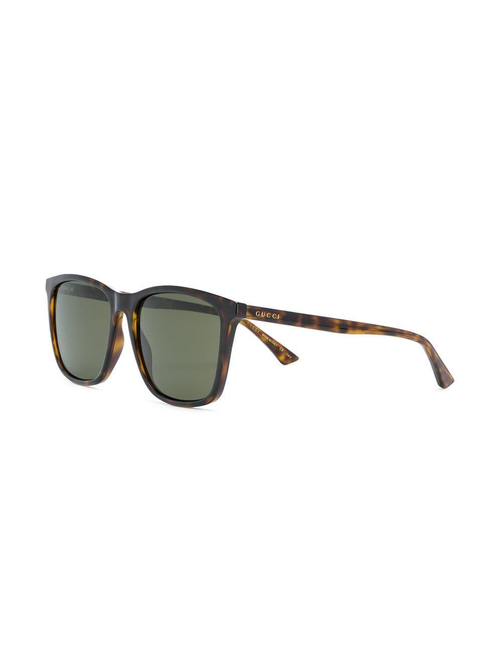 30adc4726241 Gucci Square Tinted Sunglasses in Brown - Lyst