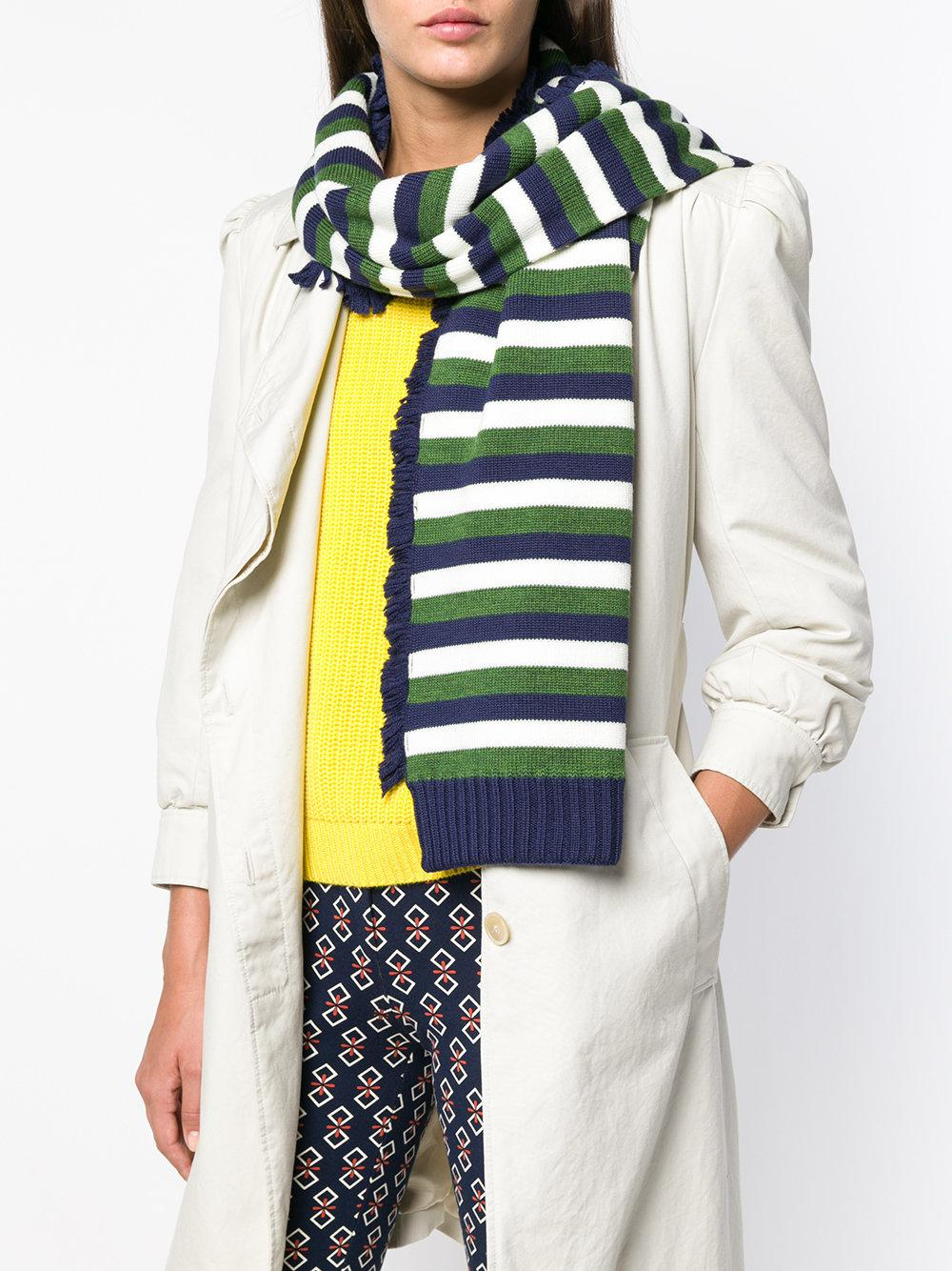 33602b4a89 Lyst - Sonia Rykiel Striped Scarf in Green