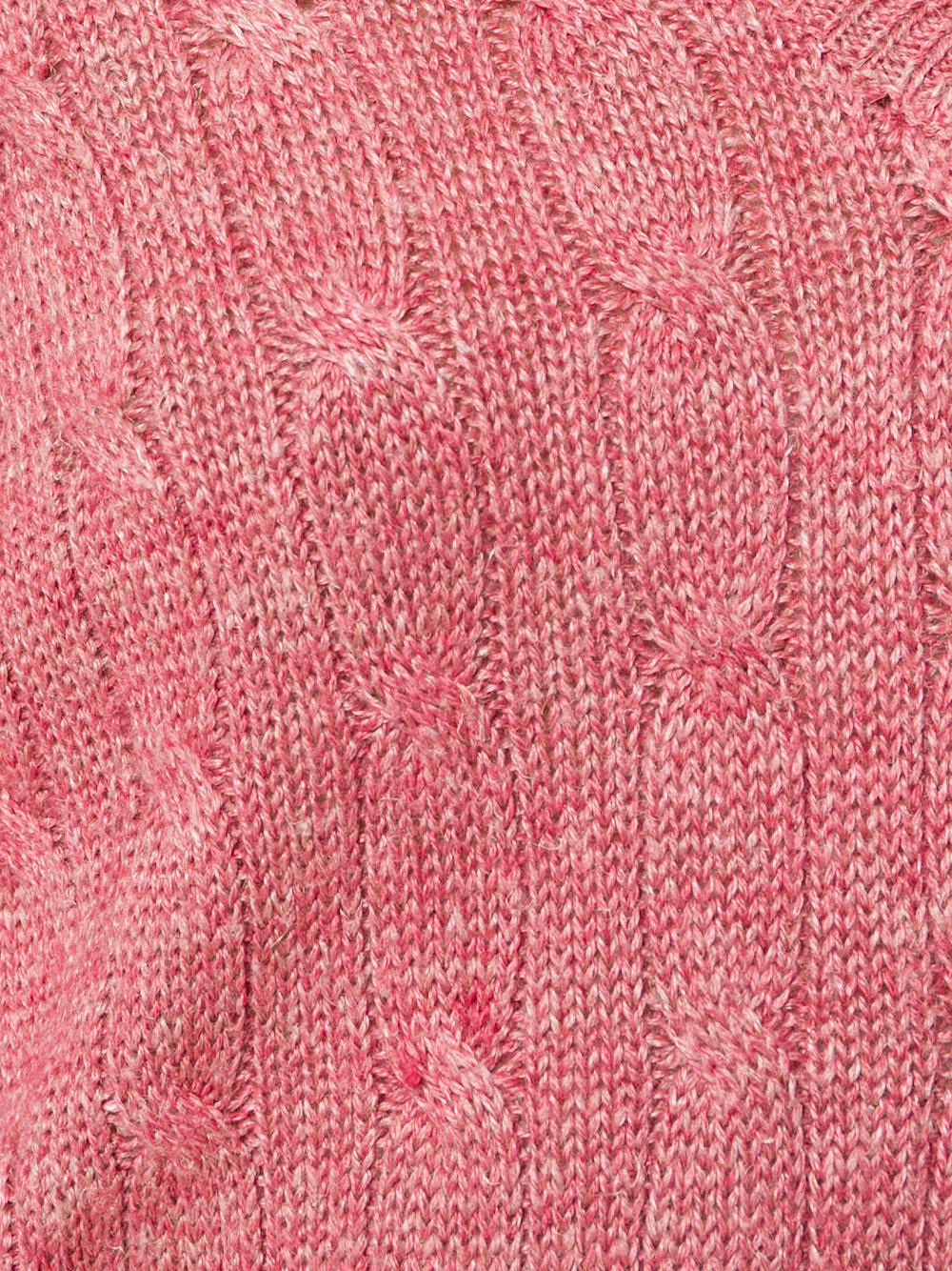 Ralph lauren Classic Knitted Sweater in Pink | Lyst
