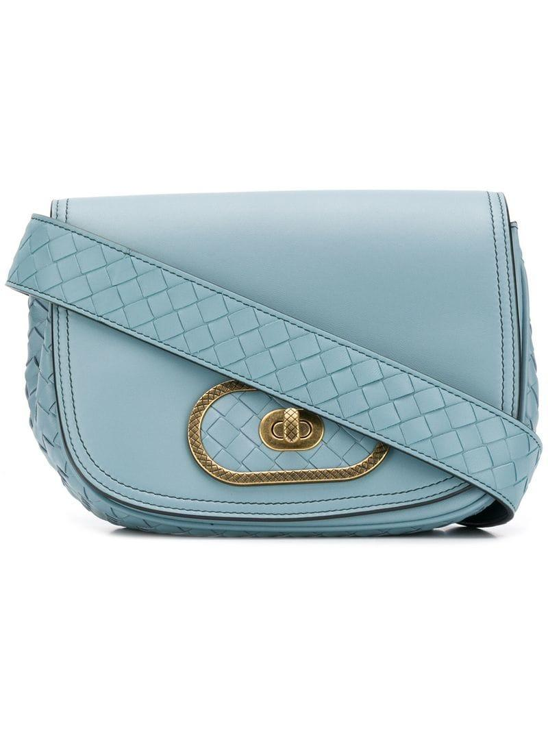 3148d469a532 Lyst - Bottega Veneta Bv Luna Shoulder Bag in Blue