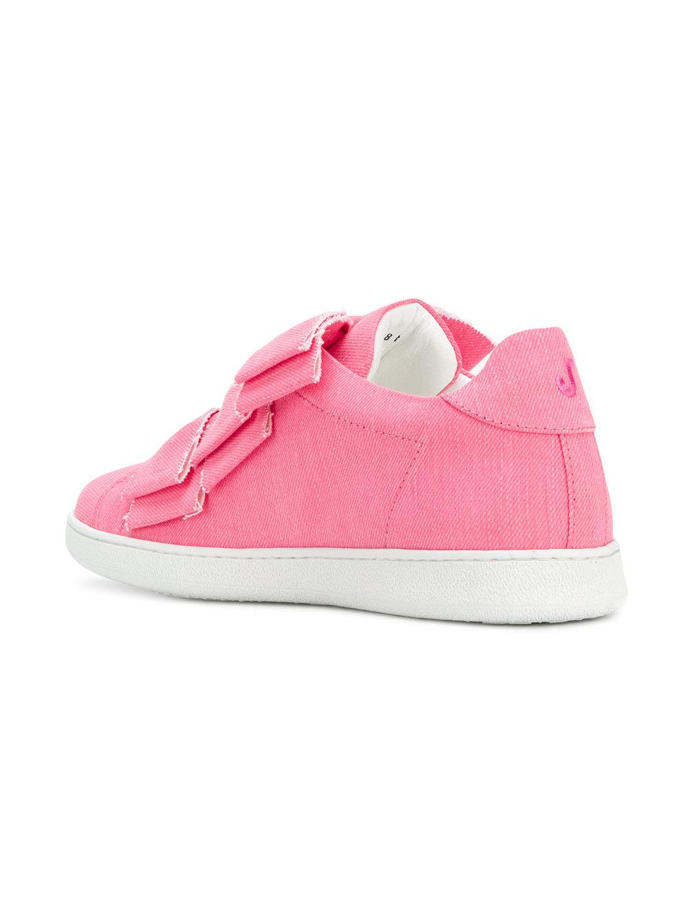 denim bow-embellished sneakers - Pink & Purple Joshua Sanders KpZA57
