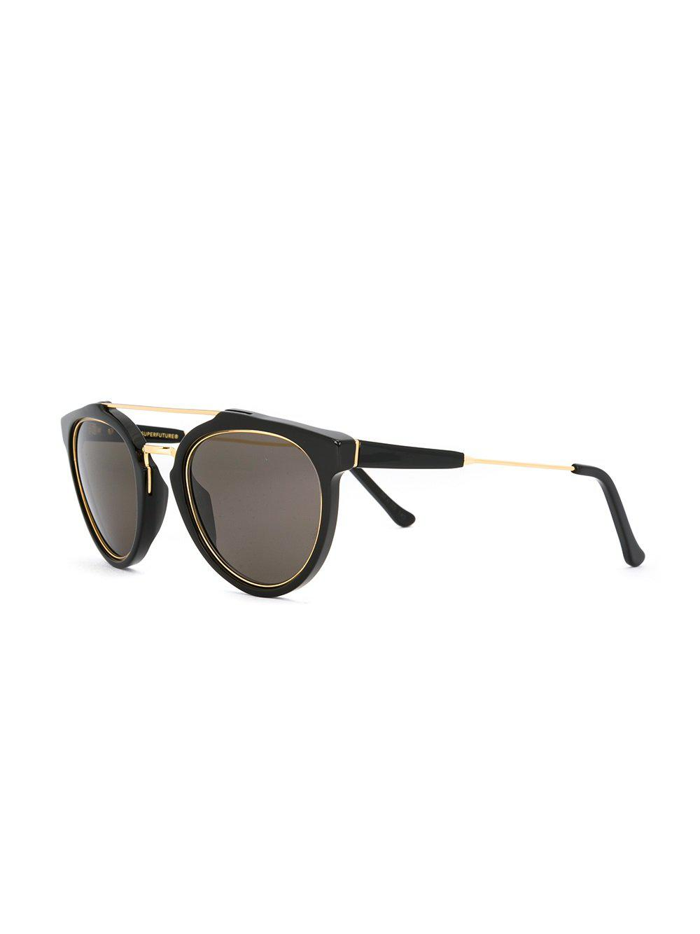 90231a7154 Lyst - Retrosuperfuture  giaguaro  Sunglasses in Black