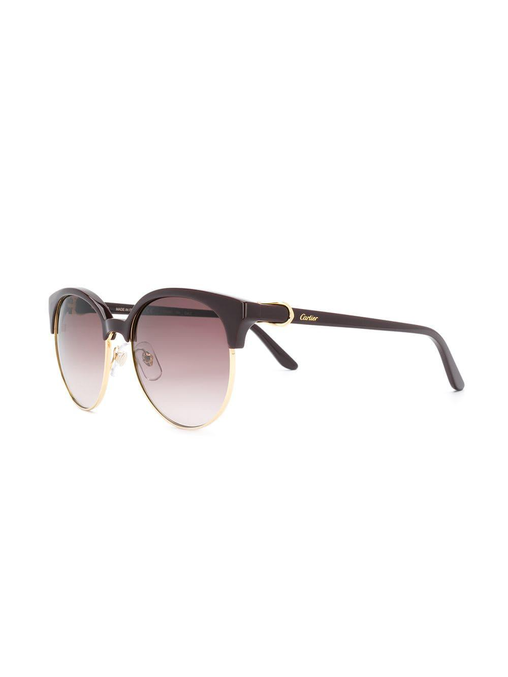 Cartier C Decor Sunglasses In Red Lyst