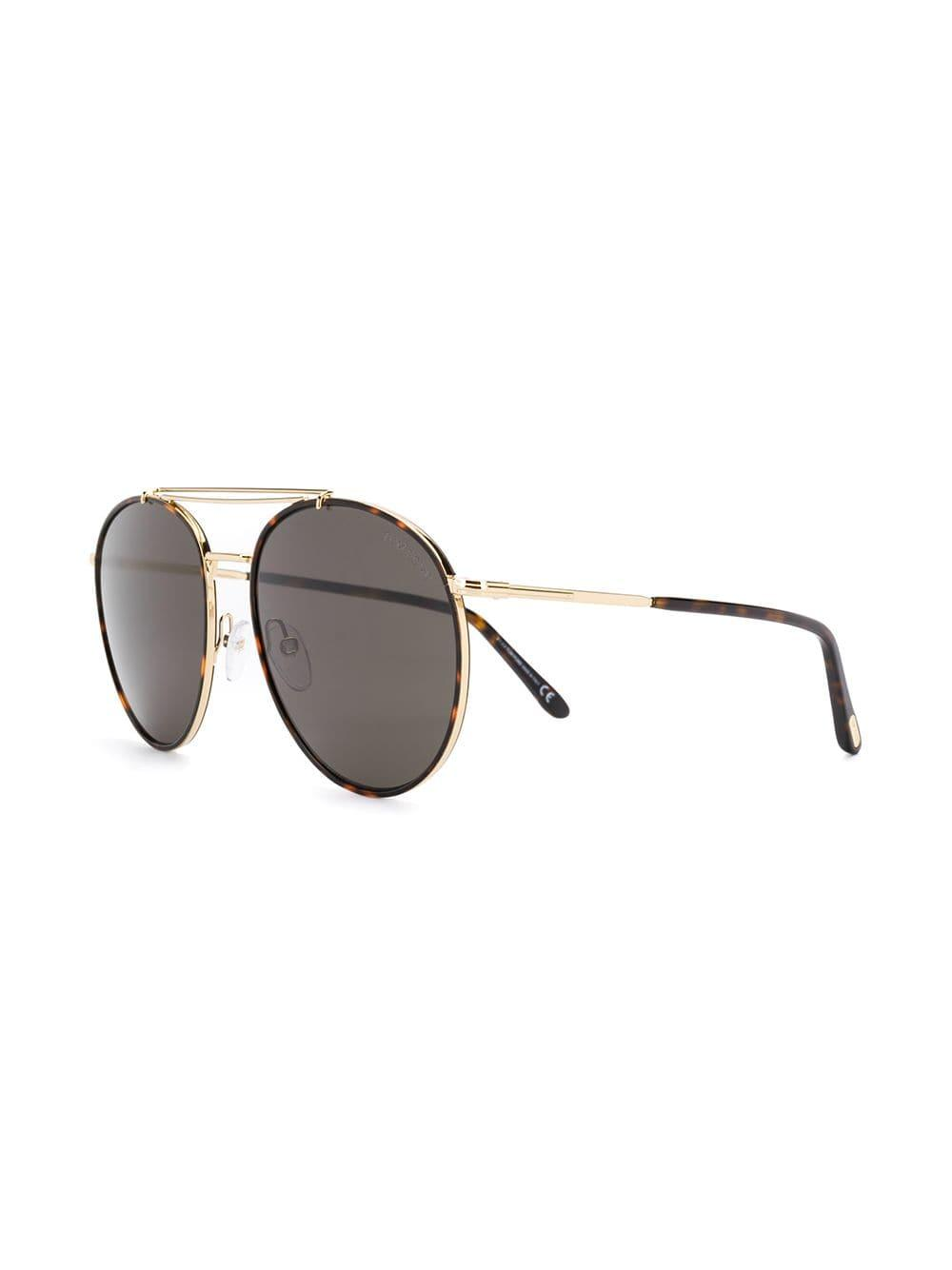 78dfe75c28 Lyst - Tom Ford Wesley Sunglasses in Brown for Men