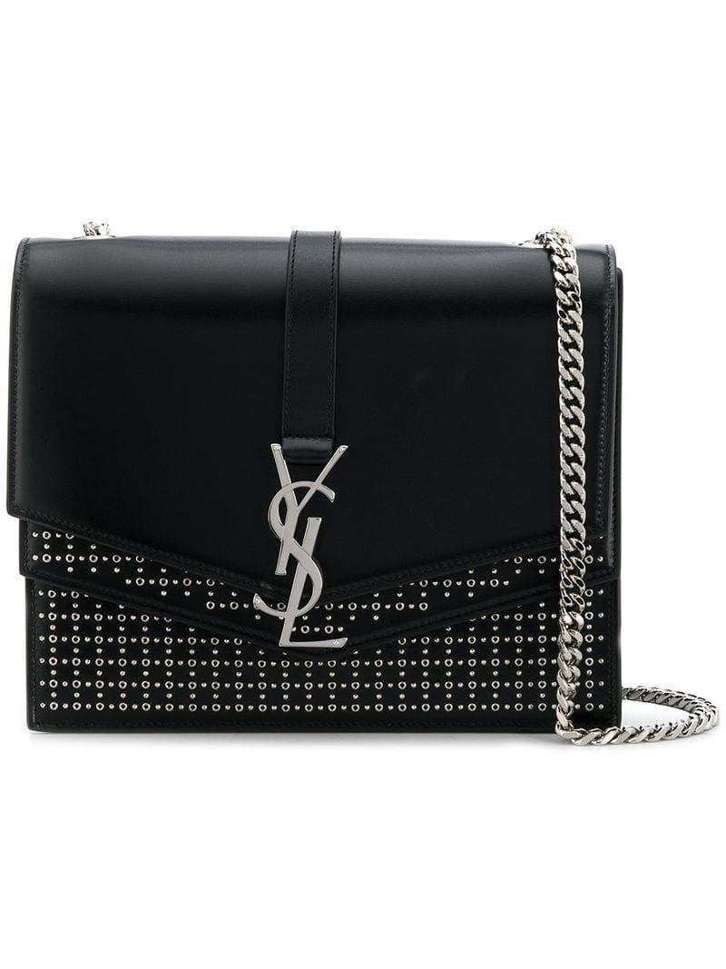 794ed2dab2d5 Saint Laurent Medium Sulpice Bag in Black - Lyst