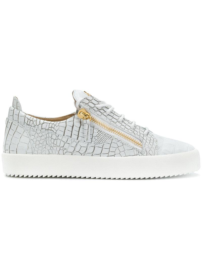 Giuseppe Zanotti And gold python-embossed low-top sneaker GAIL METALLIC